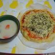 シチュー&ピザパン