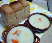 シチュー&胚芽パン